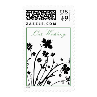 Small Flowers Our Wedding - Customized Stamps