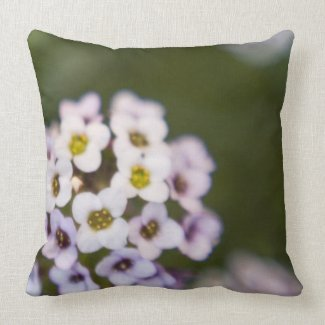 Small Flowers Pillow throwpillow