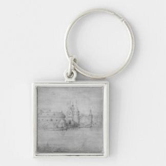 Small fortified island, Amsterdam, 1562 Key Chains