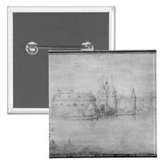 Small fortified island, Amsterdam, 1562 Pinback Button