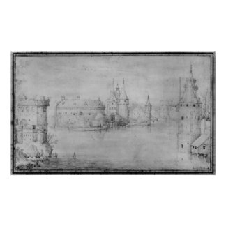 Small fortified island, Amsterdam, 1562 Poster