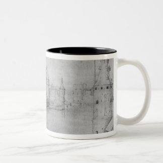 Small fortified island, Amsterdam, 1562 Two-Tone Coffee Mug