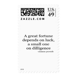 Small Fortune quote Postage