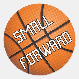 Small Forward Basketball Classic Round Sticker