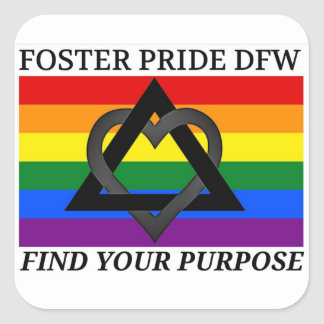 Small Foster Pride sticker