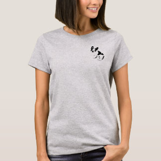 Small French Bulldog Stencil T-Shirt