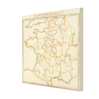 Small French Rivers Outline Canvas Print