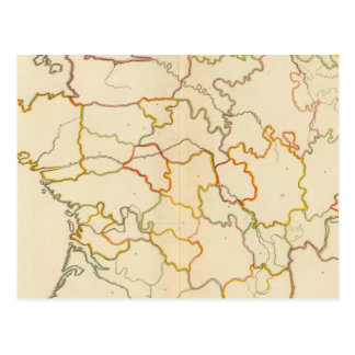 Small French Rivers Outline Postcard