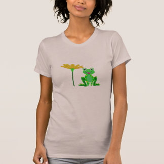 small frog and yellow flower T-Shirt