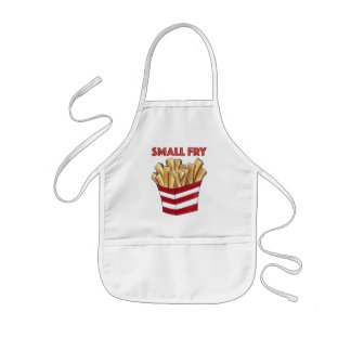 SMALL FRY Fast Food French Fries Foodie Kid Apron