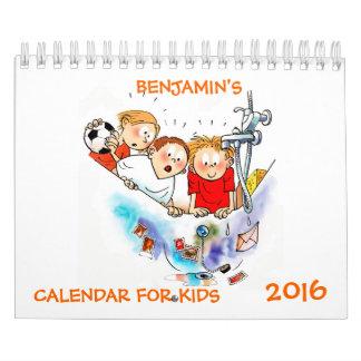 Small Funny Calendar For Kids 2016