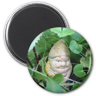 Small Garden Gnome 2 Inch Round Magnet