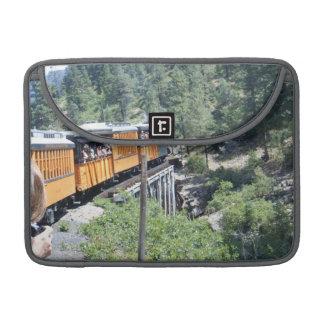 Small gauge train on tressle MacBook pro sleeve