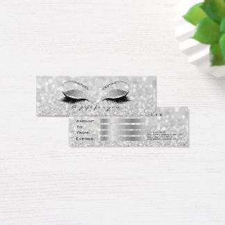 Small Gift Certificate Silver Glitter Lash Makeup