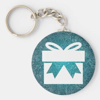 Small Giftboxes Minimal Basic Round Button Keychain