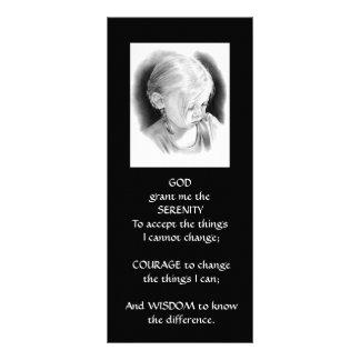 SMALL GIRL: PENCIL  ART: SERENITY PRAYER FULL COLOR RACK CARD