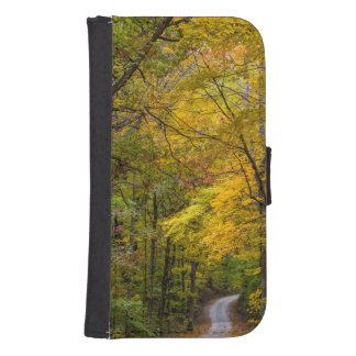 Small Gravel Road Lined With Autumn Color Phone Wallet