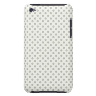 Small Gray Polka Dots Barely There iPod Covers