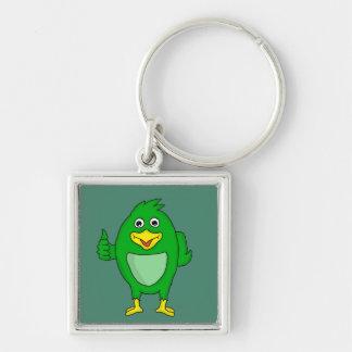Small green bird design custom keychains