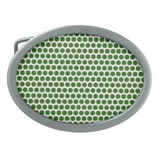 Small Green Dot Oval Buckle Belt Buckle