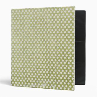 small green dots grungy 3 ring binders