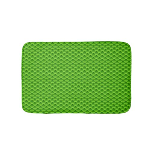 Small green fish scale pattern bath mat zazzle for Fish bath mat