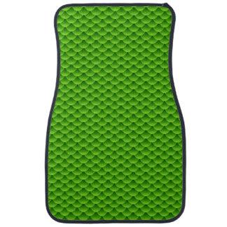 Small Green Fish Scale Pattern Car Floor Mat