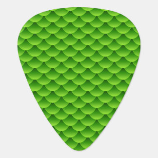 Small Green Fish Scale Pattern Guitar Pick