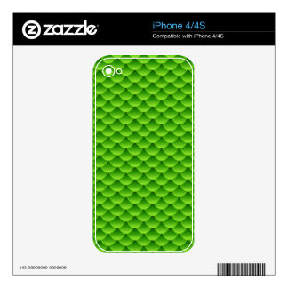 Small Green Fish Scale Pattern iPhone 4 Decals