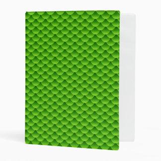 Small Green Fish Scale Pattern Mini Binder