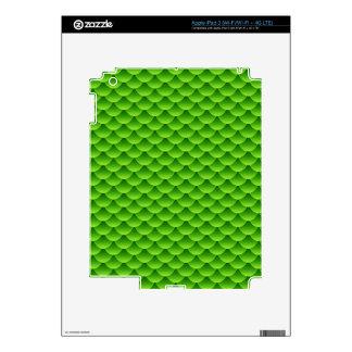 Small Green Fish Scale Pattern iPad 3 Skin