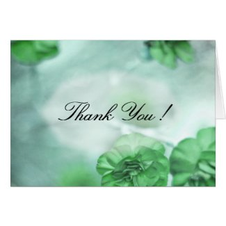 Small Green Flowers Thank You Greeting Card