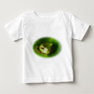 Small Green Frog Watching You Baby T-Shirt