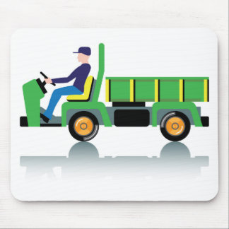 Small green utility truck mouse pad