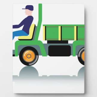 Small green utility truck plaque