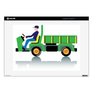 Small green utility truck skin for laptop