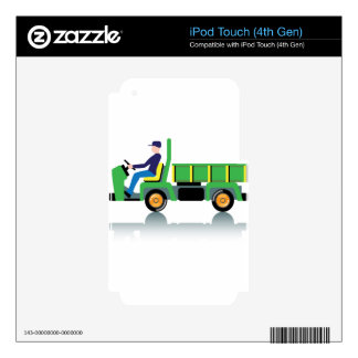 Small green utility truck skins for iPod touch 4G