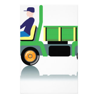 Small green utility truck stationery