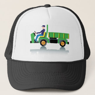 Small green utility truck trucker hat