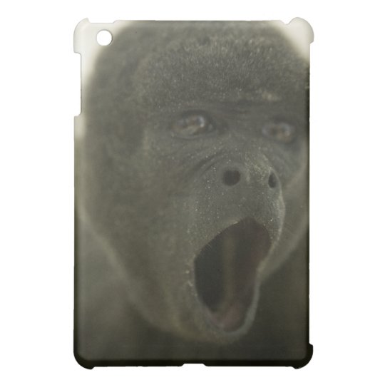 Small grey monkey, outdoors, portrait case for the iPad mini