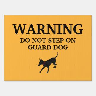 Small Guard Dog Sign