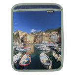 small harbor in Camogli Sleeves For iPads