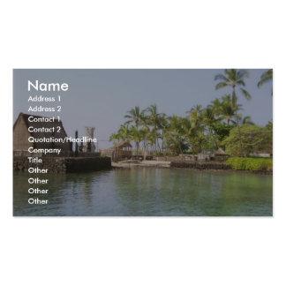 Small Harbour At Ahuena Heiau Kailua Kona Hi Business Cards