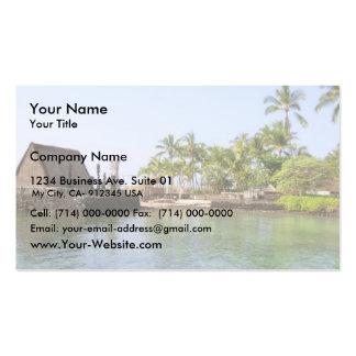 Small Harbour At Ahuena Heiau Kailua Kona Hi Business Card Template