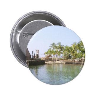 Small Harbour At Ahuena Heiau, Kailua Kona, Hi Pinback Button