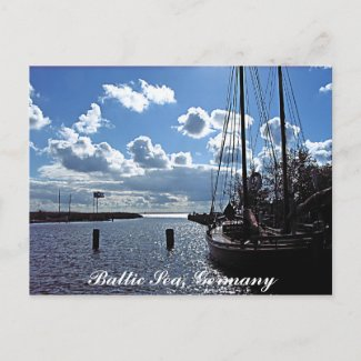 Small-harbour, Baltic Sea, Germany Postcard postcard