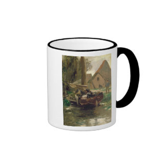 Small Harbour with a Boat Ringer Mug