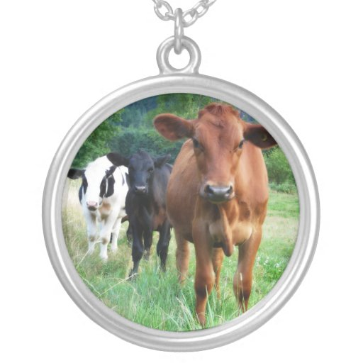 Small Herd of Three Cows Necklaces