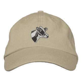 Small Holstein Head Embroidered Baseball Cap