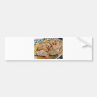 Small homemade salty croissants stuffed bumper sticker